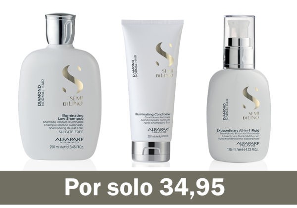 Lote 3 Productos Semi Di Lino Diamond Luminosidad Extrema