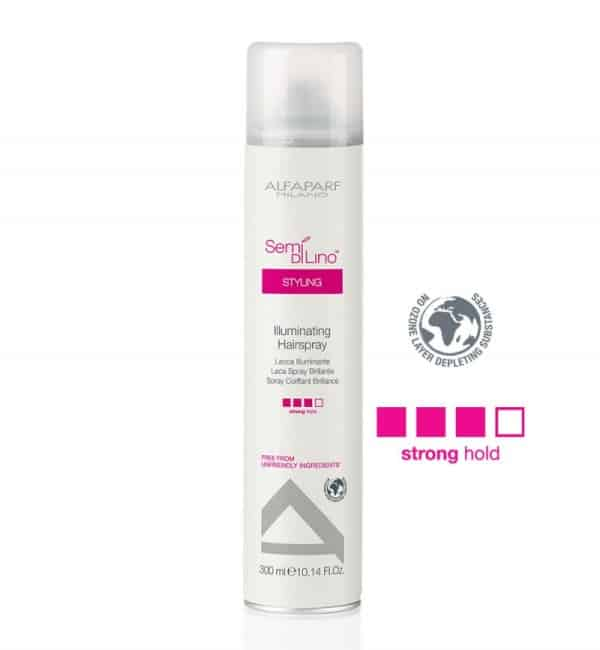 ALFAPARF SEMI DI LINO ILLUMINATING HAIRSPRAY STRONG 1