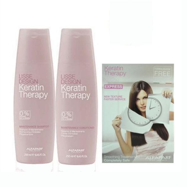 LISSE DESIGN SHAMPOO, CONDITIONER y KIT KERATIN EXPRESS