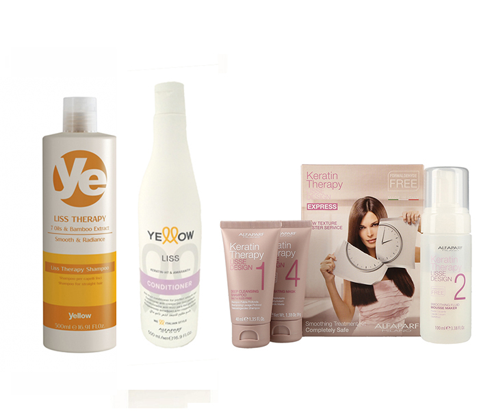 Oferta Yellow Liss Therapy Shampoo Conditioner Kit Lisse Design Express