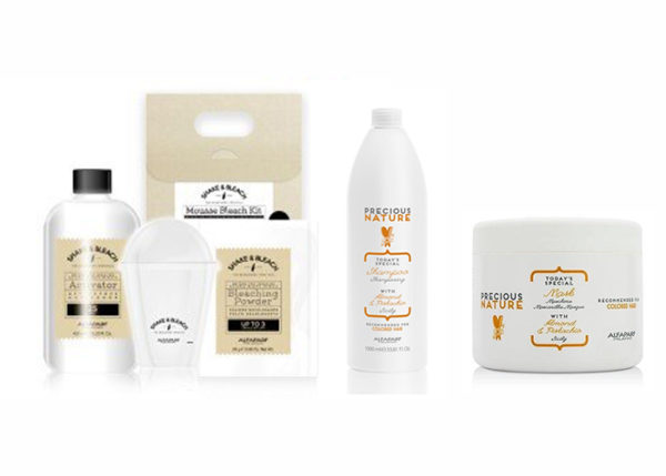 Pack Ahorro Equipment Bleach & Shake Kit Mousse + Precious Nature Sicily Shampoo + Mask