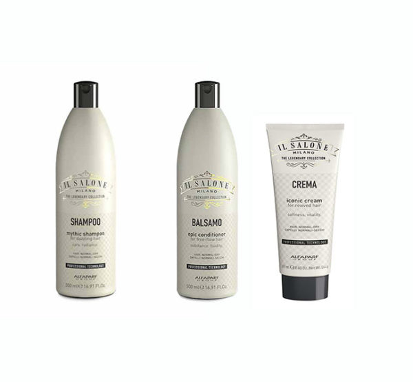 Pack Alfaparf Il salone Mythic Shampoo + Epic Conditioner + Iconic Cream