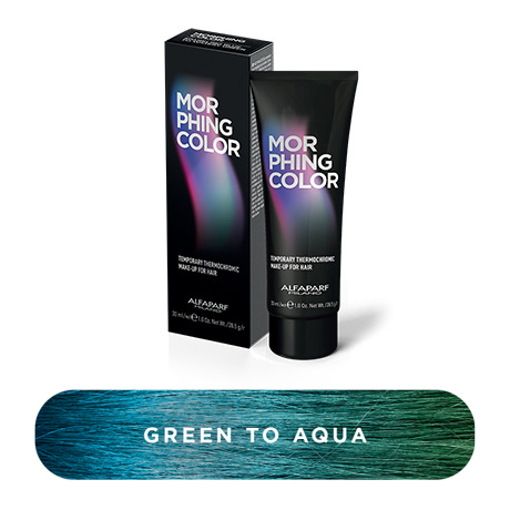 morphing color green to aqua